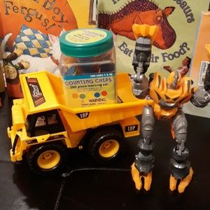 Tonka truck/ Transformer /counting chips